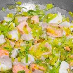 Quiche de espinacas y pescado - receta paso a paso