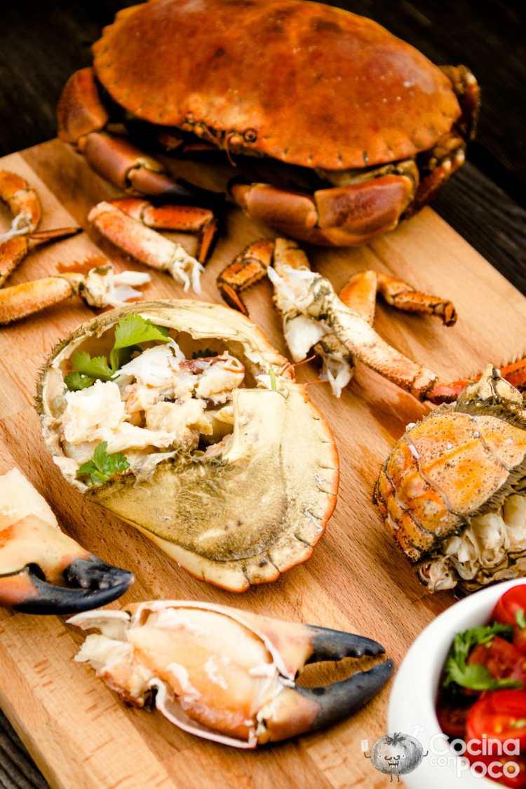 Buey De Mar Cocido Preparación Cocina Con Poco Recetas