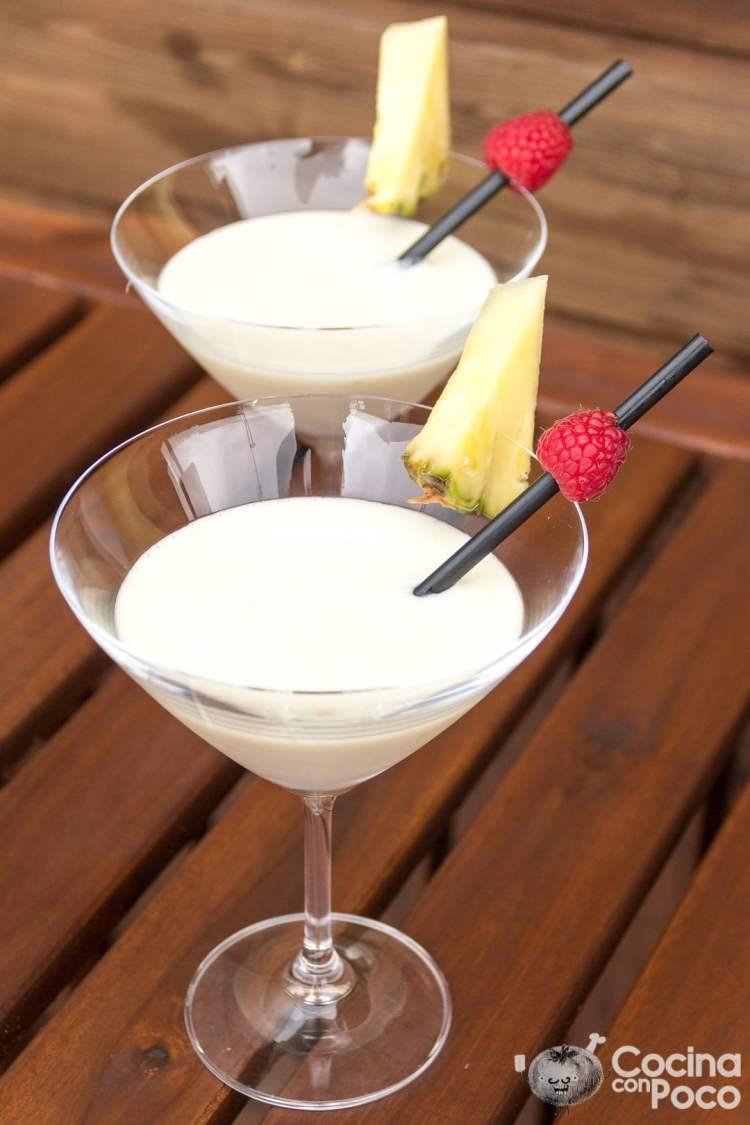 piña colada sin alcohol receta casera