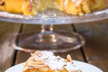 tarta de almendras y queso