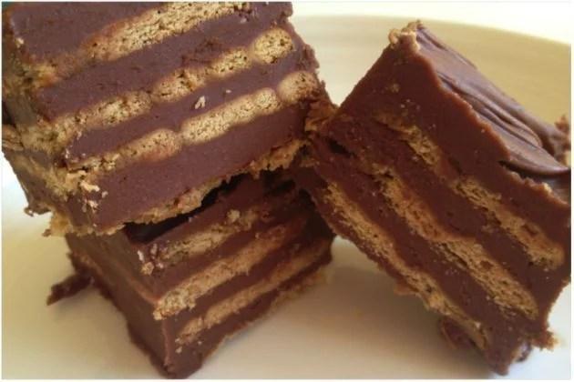 tarta de chocolate elaborada con galletitas
