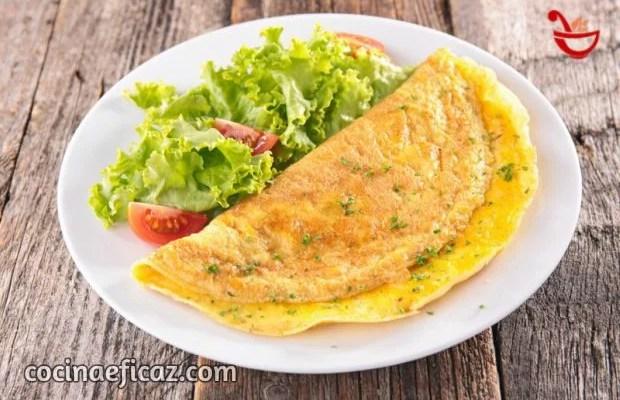 Omelette de queso cebolla y morrón