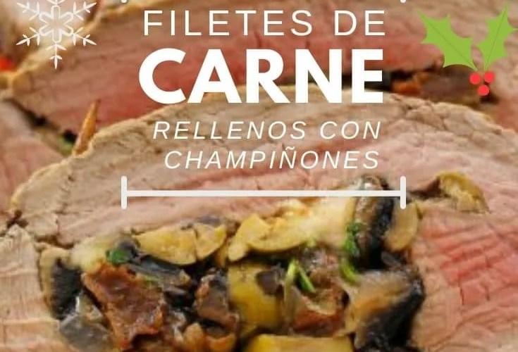 Filete de carne de ternera con champiñones