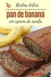 receta facil de pan de banana