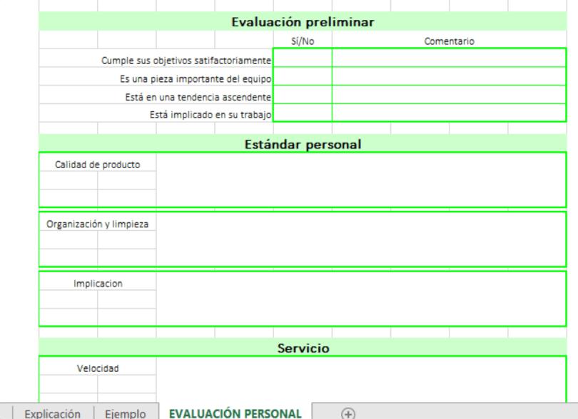 detalle plantilla evaluación personal