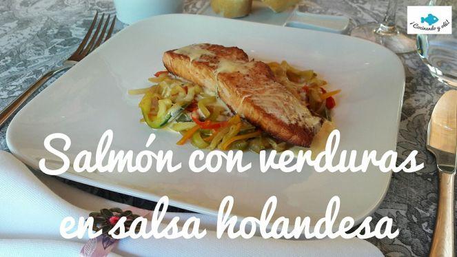 Salmón en salsa holandesa