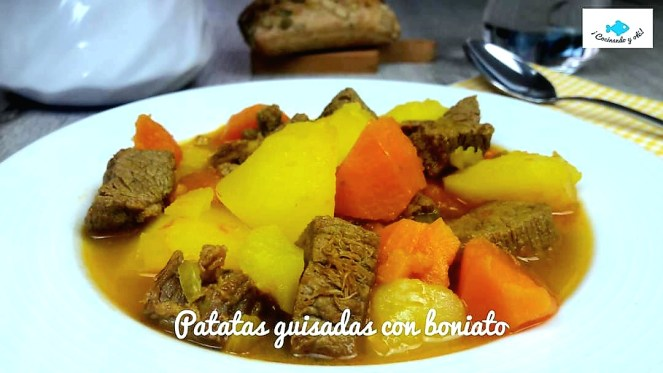 Patatas guisadas con boniato