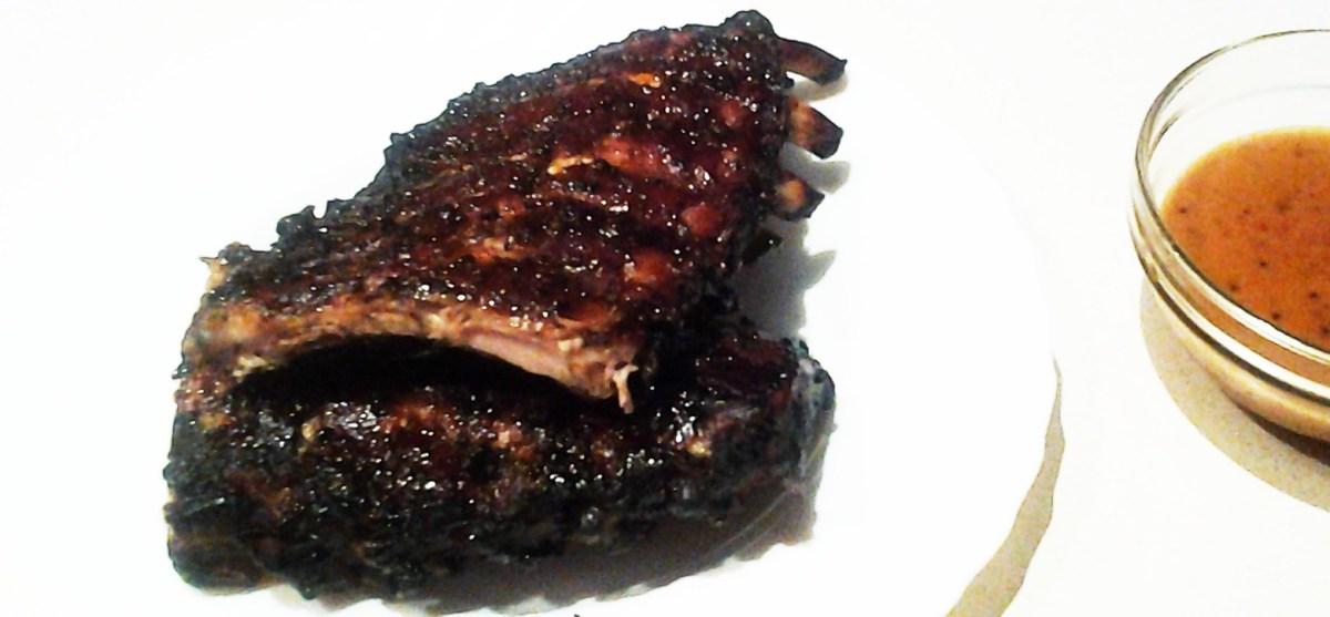 Costillar de cerdo al horno con calimocho