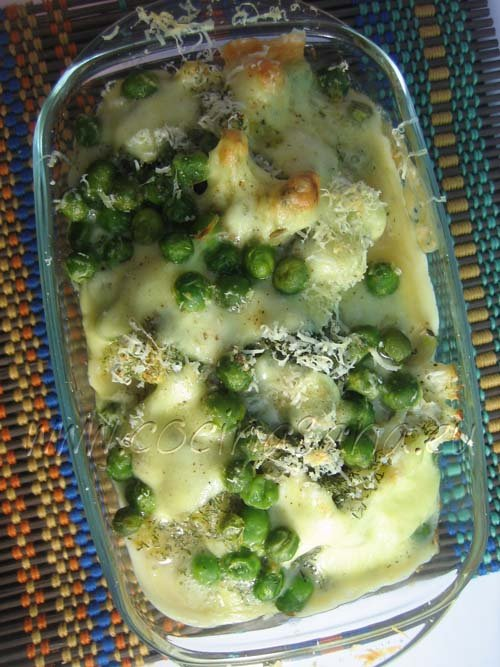 Gratinado de verduras al salir del horno