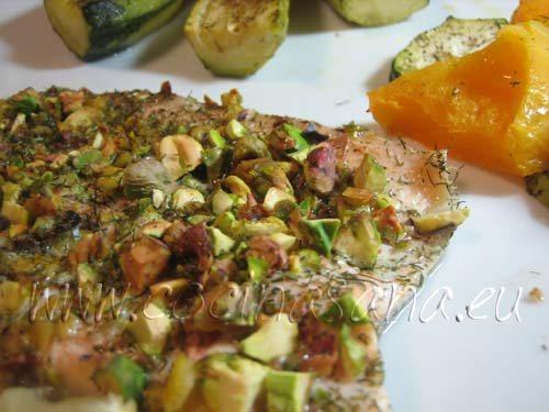 Trucha arcoíris con pistachos: un plato muy sano y rico!