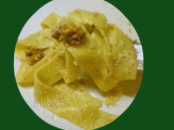 Receta de pasta con salsa de nueces