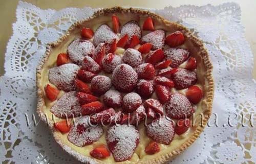 Tarta de Fruta con Fresas y Crema pastelera