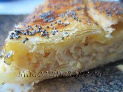 Quiche de cebolla con Queso batido sin grasa y Semillas de Amapola