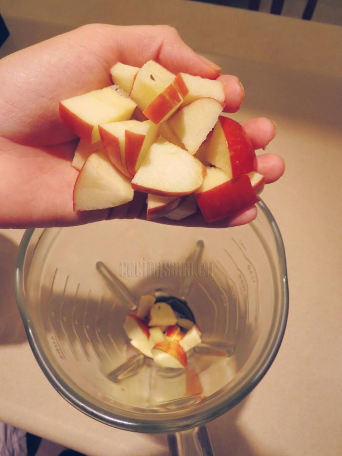 Agrega la manzana