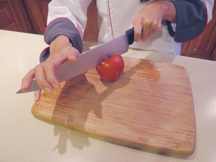 cortar fruta