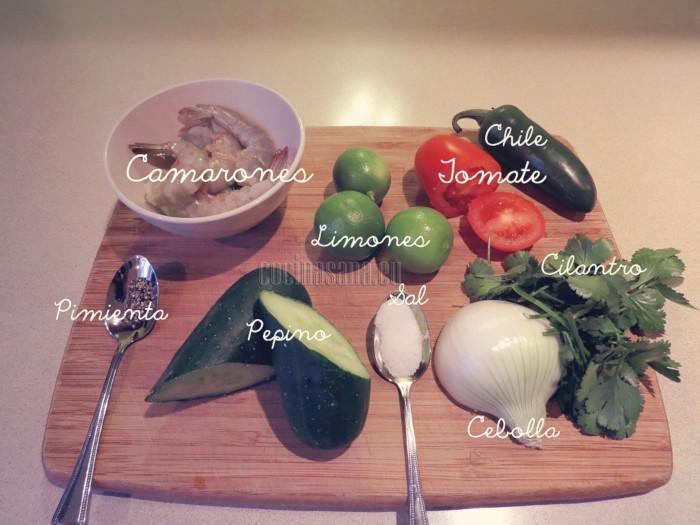 Estos ingredientes necesitas para el cebiche