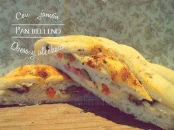 Cómo hacer Pan relleno de Jamón, Albahaca y Queso