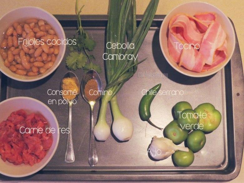 Los ingredientes que se necesitan
