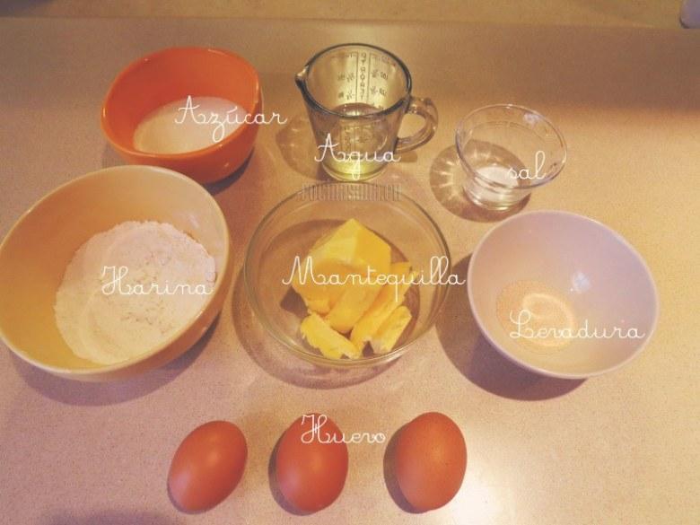 Estos son los ingredientes para la masa