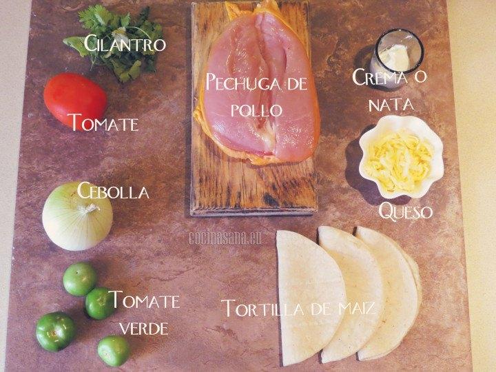 Los ingredientes necesarios