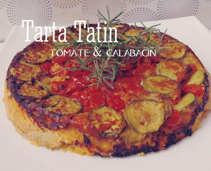 Tarta tatin con tomate y calabacitas una receta salada y deliciosa