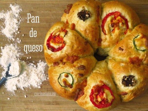 Pan casero de Queso con Tomate, Calabacita y Champiñón