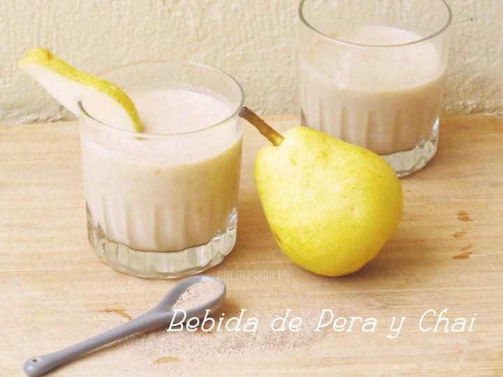 Bebida de Pera y Chai