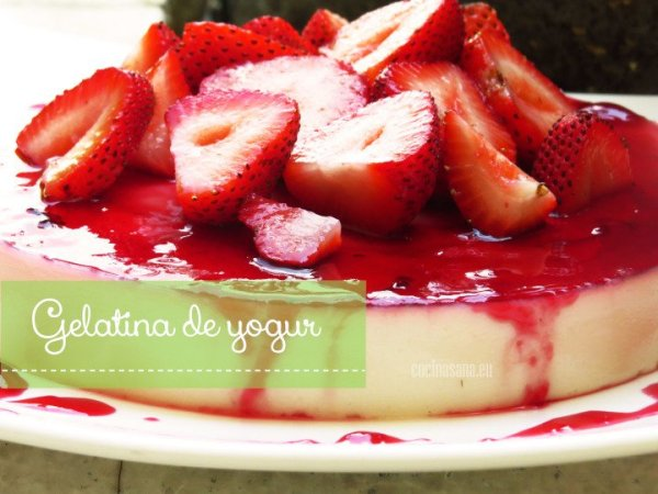 Gelatina de yogur con Jamaica
