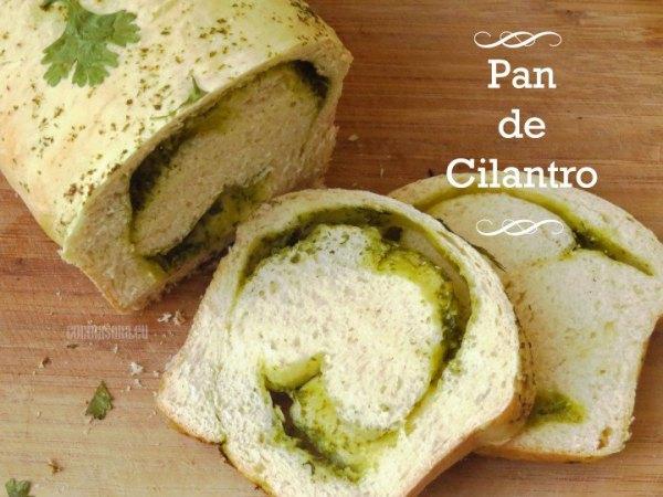 Pan con cilantro