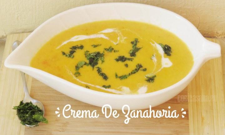 Recetas Crema de Zanahoria lista para comer