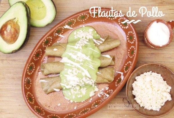 Flautas de Pollo receta mexicana