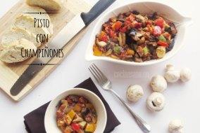Pisto con Champiñones. Una receta fácil con verduras
