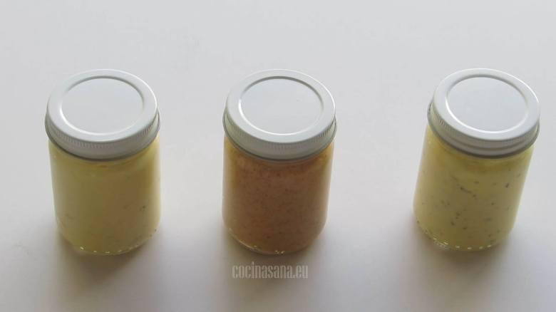Mayonesa casera con distintos sabores, fácil de preparar.