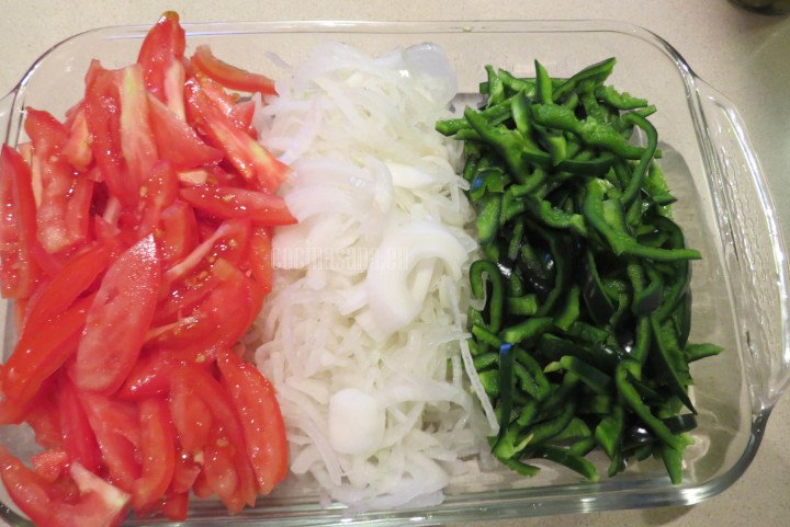 Verduras Picadas listas para elaborar los tamales