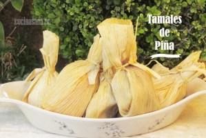 Tamales de Piña tradicionales. Receta típica mexicana
