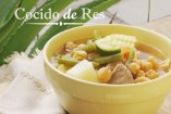Cocido de Res mexicano, receta casera