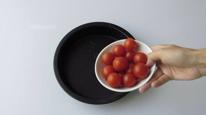 Tomates con Sal y un poco de aceite al horno