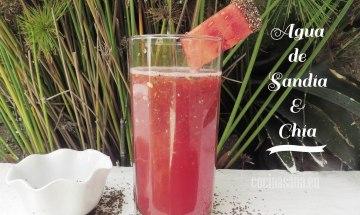 Bebida fresca de sandia y chia
