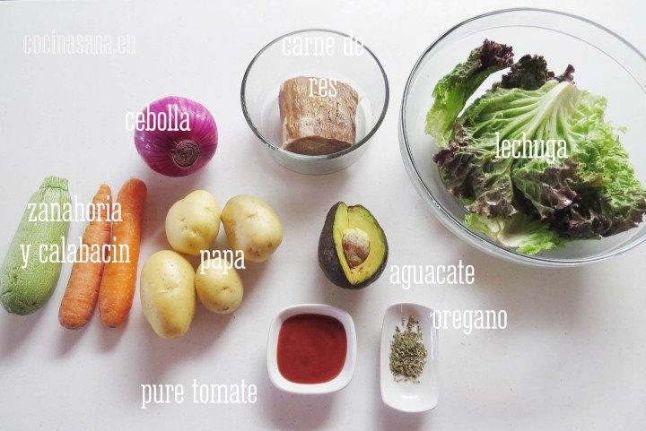 Ingredientes para el Asado
