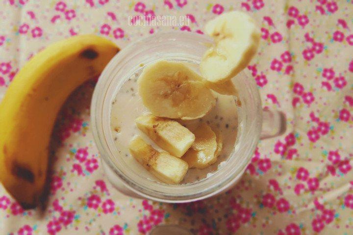 Avena con plátano