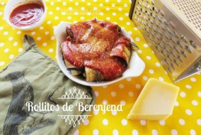 Rollitos de Berenjenas rellenos de queso con Salsa. Receta en 15 minutos