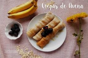 Crepas de Avena con Plátano y Miel. Receta fácil para la merienda