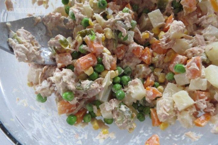 Mezclar la ensalada
