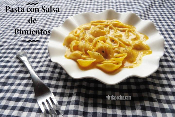 receta de Pasta con Salsa de Pimientos