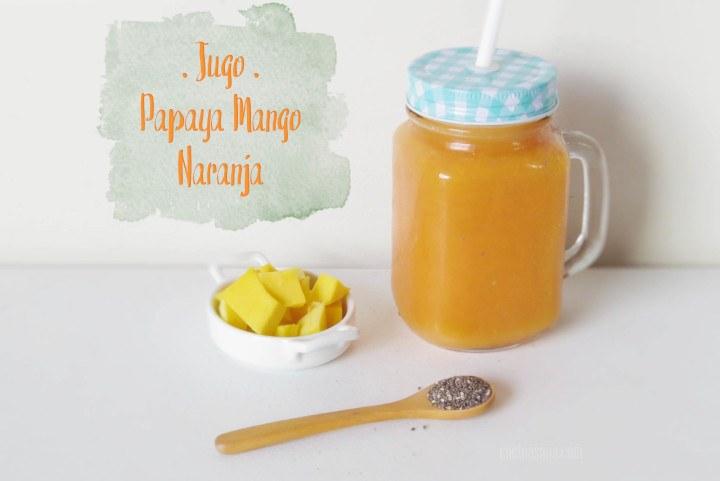 Jugo o Zumo de Naranja con Papaya