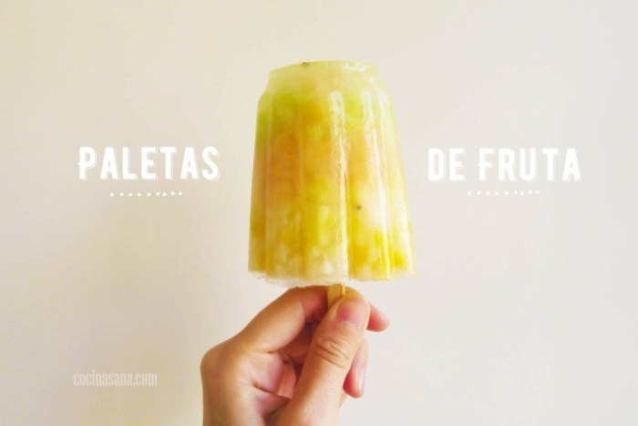 Paletas de fruta