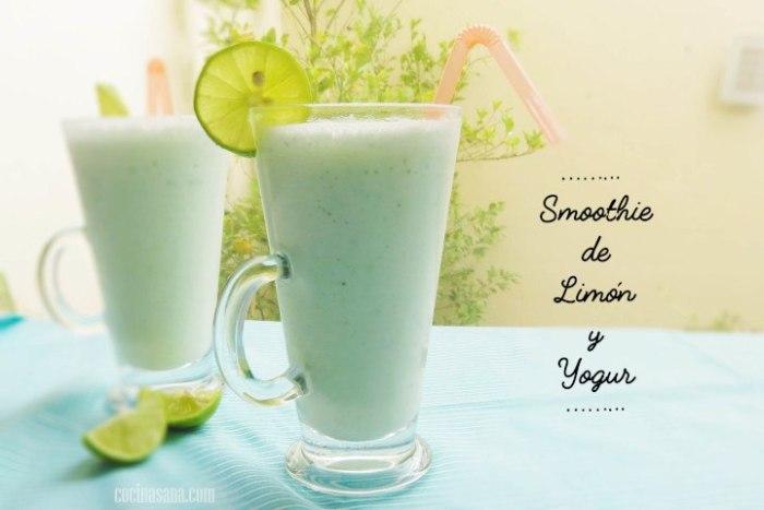 Smoothie de Yogur con Limón y Hierbabuena