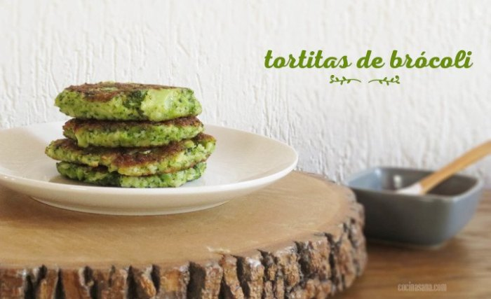 tortitas saladas: tortitas de brócoli y queso