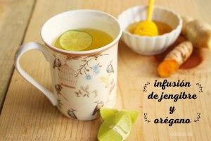 Infusión de Jengibre, Orégano, Canela y Cúrcuma para los resfriados
