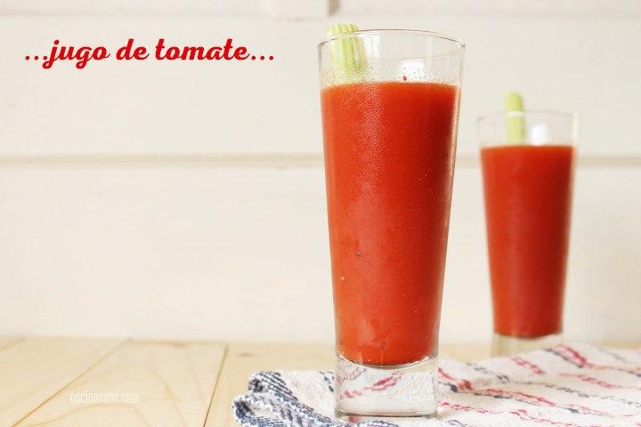 Jugo de tomate zanahoria y limon